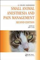 obrázek zboží A Color Handbook Small Animal Anesthesia and Pain Management 2. Edition